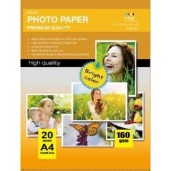 High Glossy Inkjet Photo Paper (Cast Coated),160g A4 20Fogli