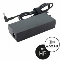 Notebook Adapter HP 19.5V 65W 3.33A 4.5x3.0+pin(90angle,blu)